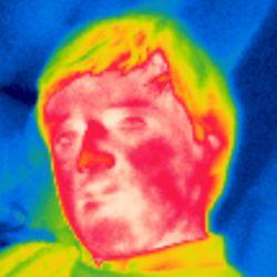 Hugues CREPIN par une cam�ra de thermographie infrarouge